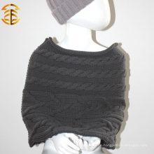 100% Wolle neue Art und Weise bunter Kind-Knit-Schal und Schal, das Shwal für Kind strickt