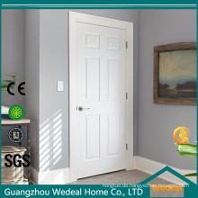 Massivholz-Innen-MDF PVC laminierte Weiß grundierte zusammengesetzte Tür