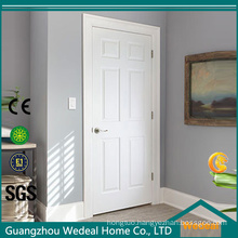 Textured 6 Panel Primed Composite Molded Bored Interior Door