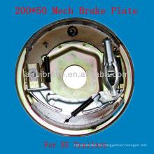 200 * 50 Mechanische Anhängerbremse Rückplatte Euro-Markt