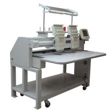 2 Head 9 Colors Flat Embroidery Machine