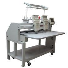 Máquina de bordado plana de 2 cores da cabeça 9