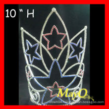 Wholesale 10''H Large tall Patriotic Star Pageant Crown