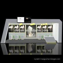 Detian offre des conceptions portatives modulaires de stand de cabine d'exposition en bois