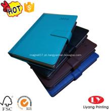 Caderno diário do plutônio com impressão do ímã