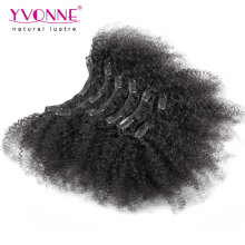 Бразильский афро кудрявый вьющиеся клип в наращивание волос