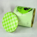 Caixa redonda grossa de qualidade alimentícia, caixa redonda grande de metal, caixa grande redonda