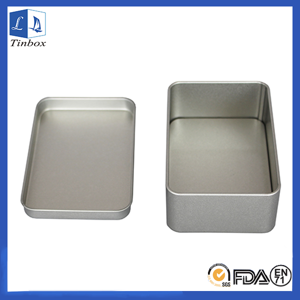 Pain Silver Rectangular Metal Packaging