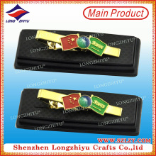 Flagge benutzerdefinierte Metall Souvenir Krawatte Bar Krawattenklammer