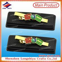 Bandeja de corbata personalizada de barra de corbata de recuerdo de metal de bandera