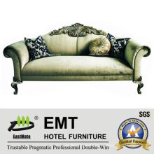 Sofá de tecido de tecido de luxo (EMT-SF13)