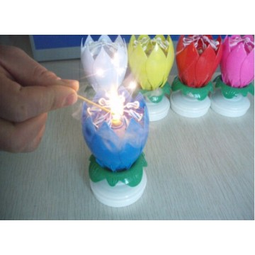Flower Music Candle Cake Gebruik Birthday Candle