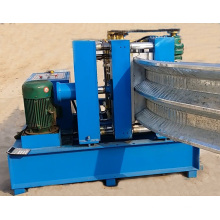 Small K q Span metal roofing 4 shapes Screw Joint Panel Roll Forming Machine With automatic  Bending Curving machine.