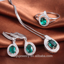 promotion fashion jewelry set with white gold plated ,set with 3 colors crystal
