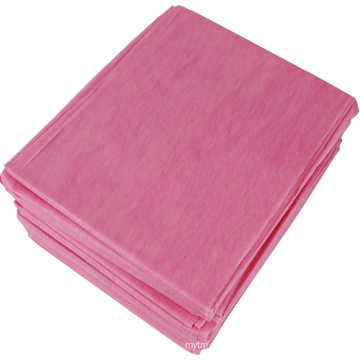 SMS PP spunbond colorful disposable bad sheets  nonwoven bad sheet