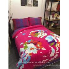 Tissu de microfibre de polyester imprimé pigmenté bon marché pour textile à la maison avec de beaux dessins