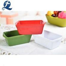 Wholesale Custom Color Rectangle Dinnerware Sets Ceramic Tableware