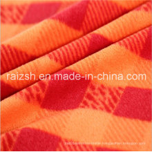 Polyester Printing Plaid Fleece Fabric for Hat Clothing Toys
