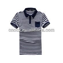 13PT1019 Latest fashion men striped polo shirt