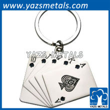 metal poker keychains