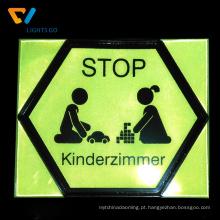 Etiqueta reflexiva Eco-amigável do filme do PVC para o sinal de segurança de passeio da noite
