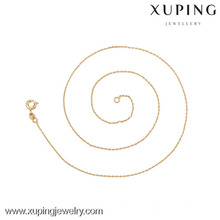 42617(half dozen)-Xuping Fashion Necklace,Gold Thin Necklace
