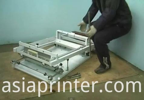 single color screen printer for bottle