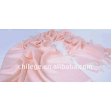Femme Rose 100% laine sergé plaine écharpe