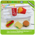 Mini Cute Sandwich Shaped Gommen Toy Rubber