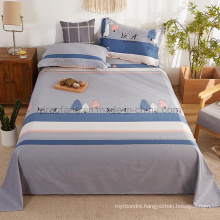 Luxurious Bed Sheet Set Fashion Style Soft Wrinkle Single Lavender Bedding Set