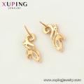 96940 xuping bijoux de mode 18k plaqué boucles d'oreilles en cuivre environnementaux
