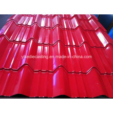 Telhado de aço ondulado galvanizado revestido cor de PPGI