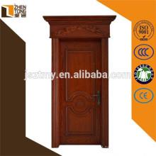 Porta 2015 da madeira maciça com projeto da porta principal do frame / architrave