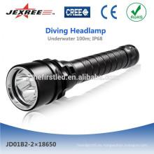 Jexree recargable linterna de buceo LED
