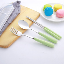 Travel Camping Porcelain Flatware Spoon Fork Chopsticks