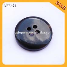 MFB71 Alta qualidade fantasia 4 buracos ABS plástico resina botão para vestuário