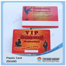 Tarjeta de identificación plástica PVC PVC