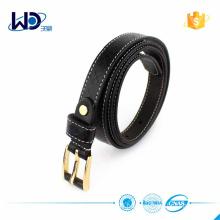 2016 Ladies Debossed Black Leather Belts