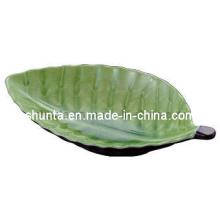 100% Melamine Dinnerware- Leaf Shape Plate (MCA80)