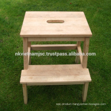 Step Stools Made of Acacia
