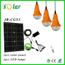 2014 nuevo CE brillantes solar lámpara con lámparas LED y cargador para niños lectura (JR-SL988)