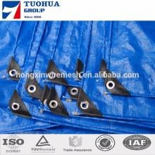 blue color aluminium eyelet 150gsm pe tarpaulin