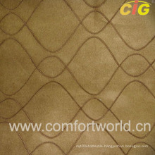 Embroidered Faux Suede Fabric (SHSF04215)