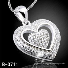 Pendentif Coeur en Argent 925 (B-3711)