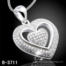 Pingente de Prata 925 Coração Shap (B-3711)