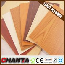 Placa colorida da melamina para a mobília, placa de MDF da melamina da alta qualidade