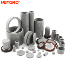 HENGKO 1 2 5 10 micron SS 304 316L sintered stainless steel porous metal highly difficult sintered high precision filter