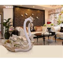 Home decor craft resin ornament customized animal love couple swan resin fruit plate