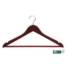 Garde-manteau en bois pour vêtements en fini personnalisé