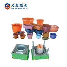 Molde plástico do produto do jardim da fonte do fabricante da cesta / molde do potenciômetro de flor injeção da flor
